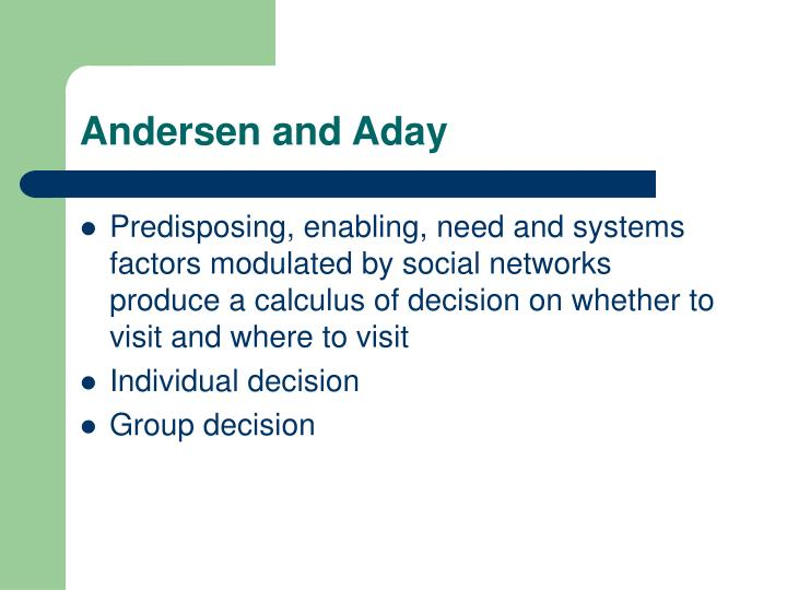 Andersen and Aday