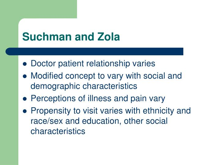 Suchman and Zola