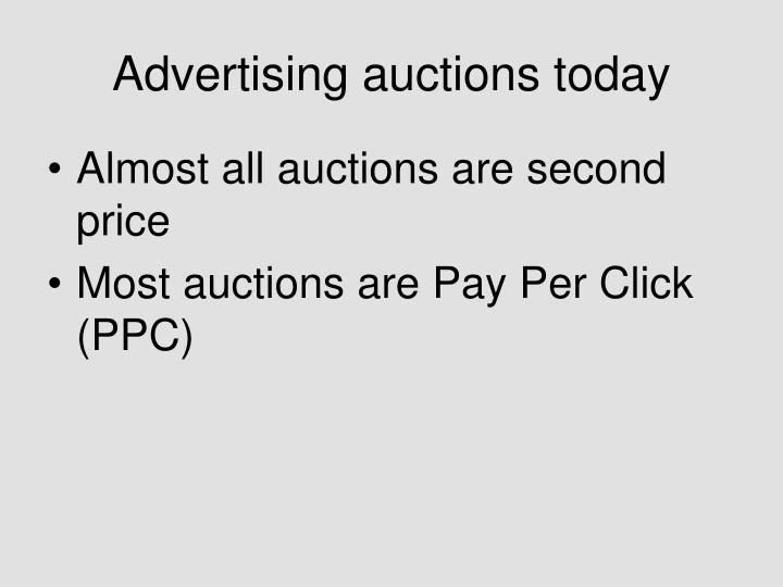 Advertising auctions today