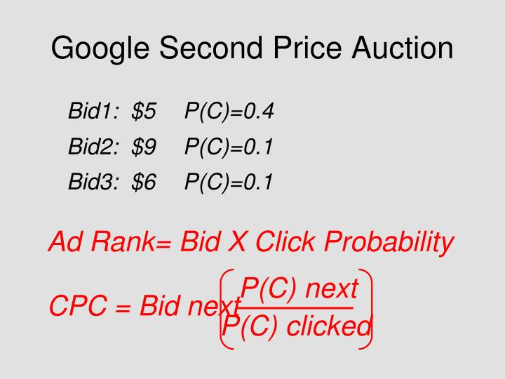 Google Second Price Auction