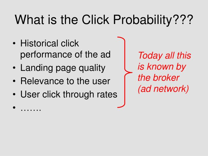 What is the Click Probability???