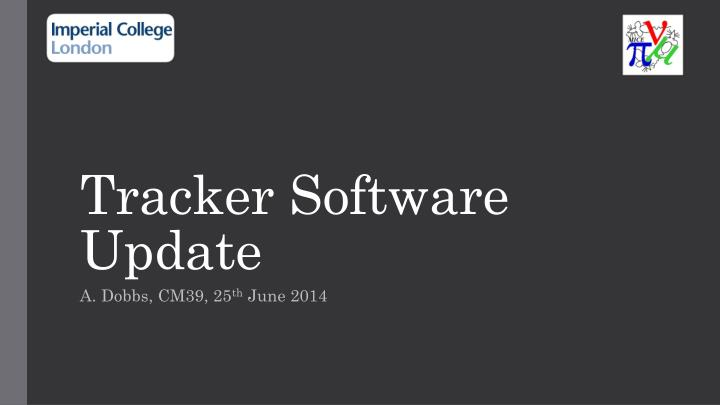 Tracker software update