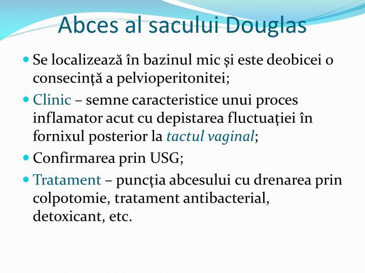 Abces al sacului Douglas