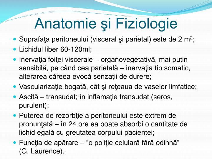 Anatomie şi Fiziologie