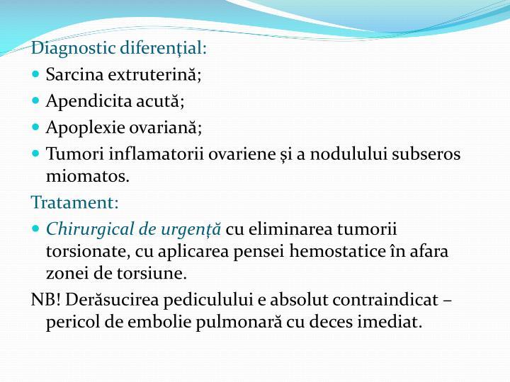 Diagnostic diferenţial:
