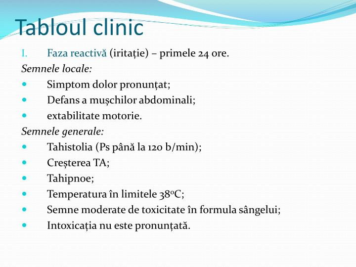 Tabloul clinic