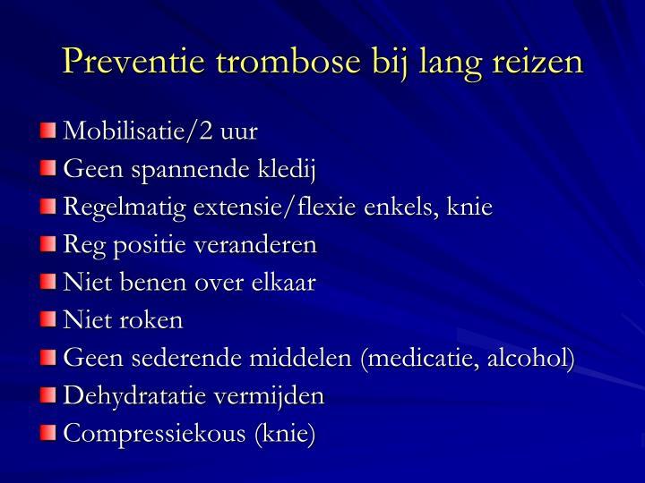 Preventie trombose bij lang reizen
