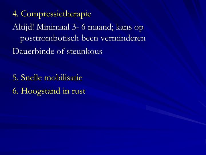 4. Compressietherapie