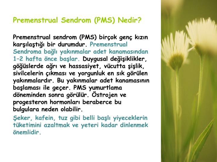 Premenstrual Sendrom (PMS) Nedir?
