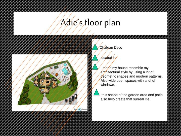 Adie's floor plan