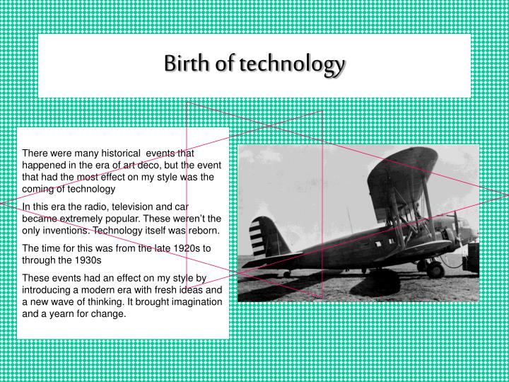 Birth of technology