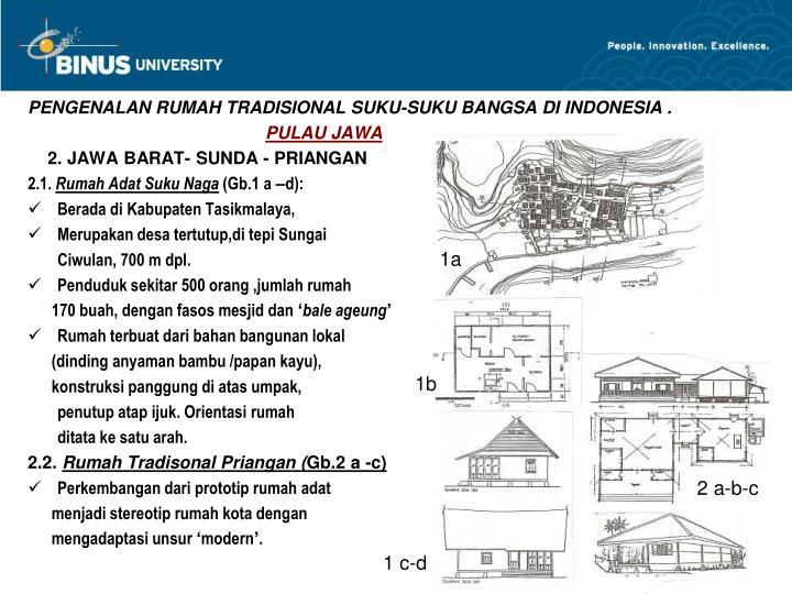 PENGENALAN RUMAH TRADISIONAL SUKU-SUKU BANGSA DI INDONESIA .