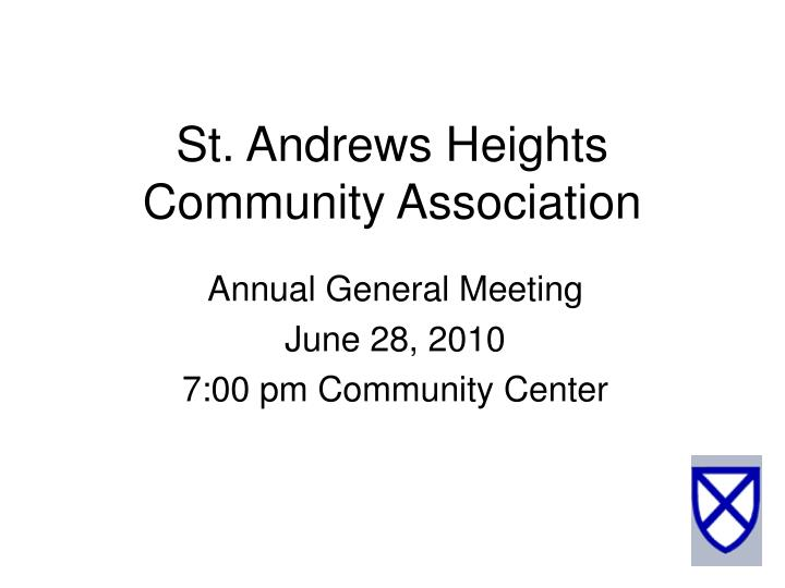 St andrews heights community association