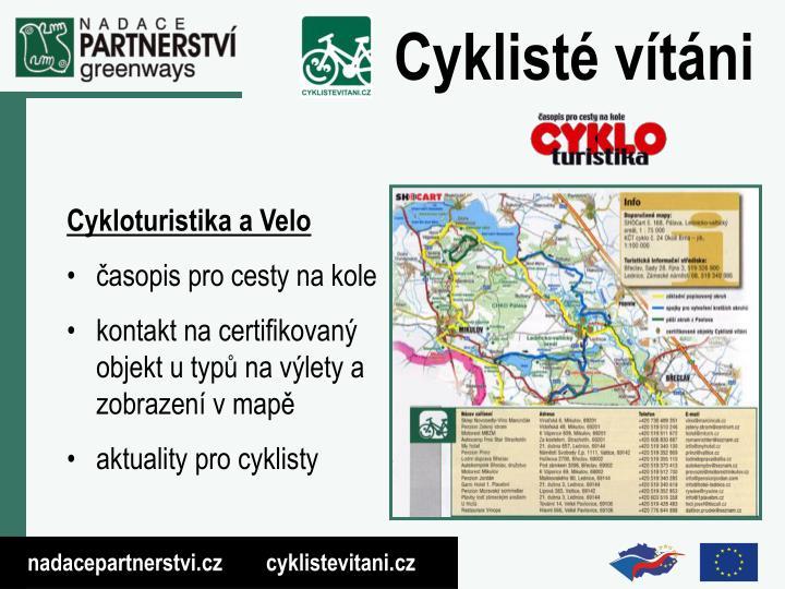 Cykloturistika a Velo