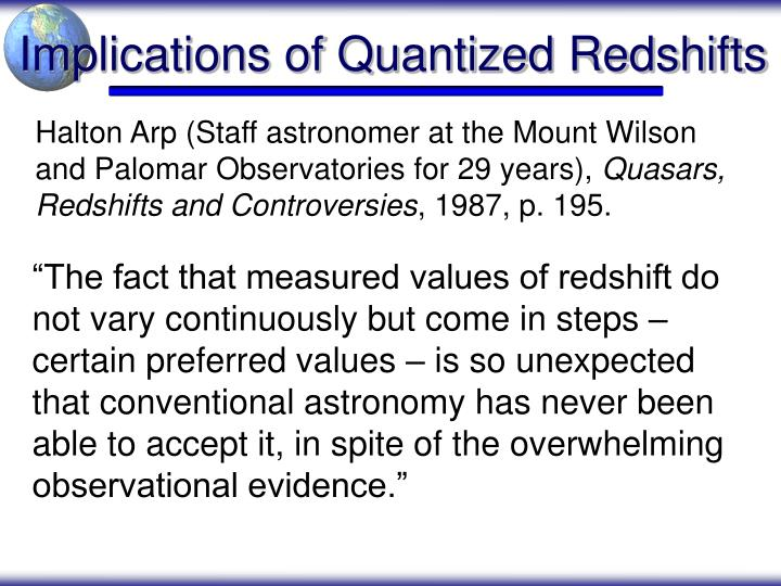 Implications of Quantized Redshifts