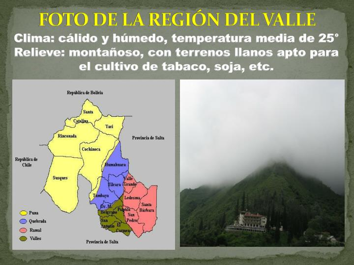 FOTO DE LA REGIN DEL VALLE
