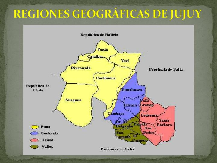 REGIONES GEOGRFICAS DE JUJUY