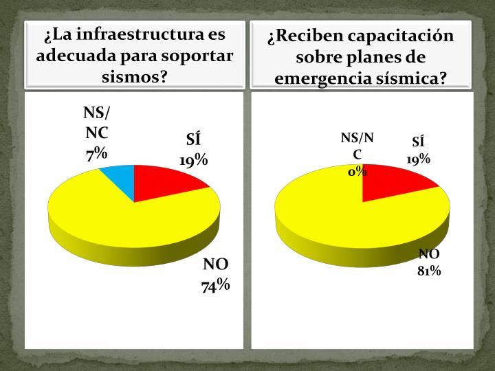 La infraestructura es adecuada para soportar sismos?