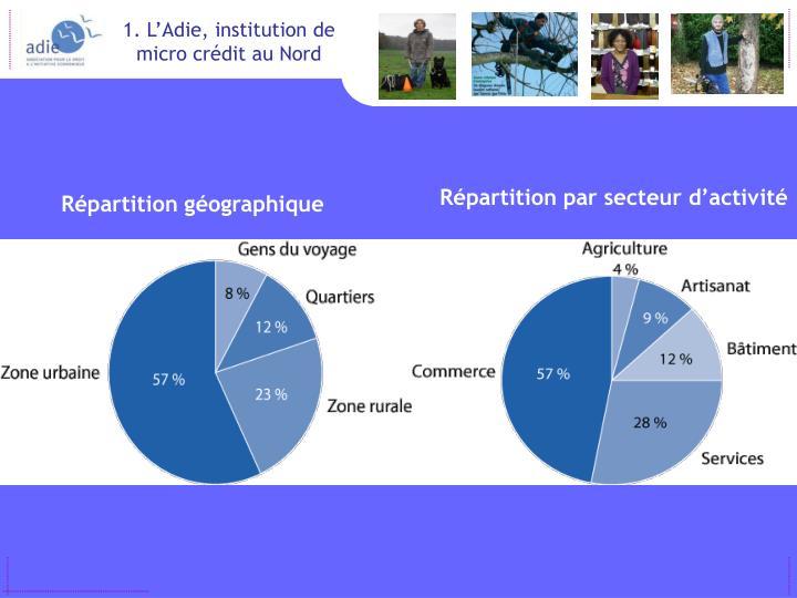 1. L'Adie, institution de micro crédit au Nord