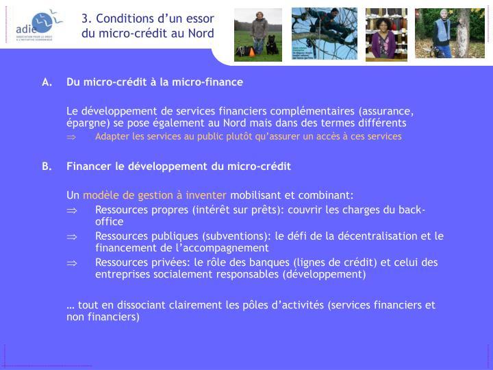 Du micro-crédit à la micro-finance