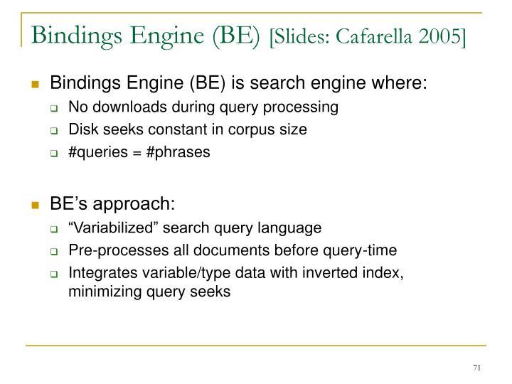 Bindings Engine (BE)