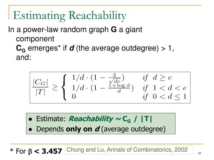 Estimating Reachability