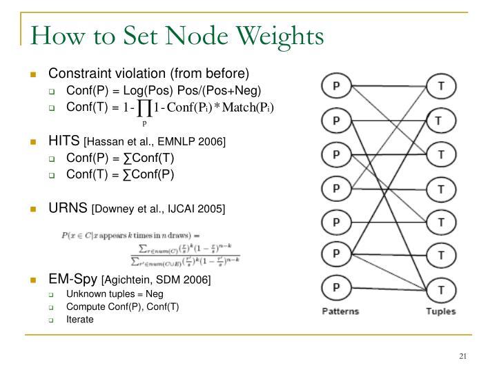 How to Set Node Weights