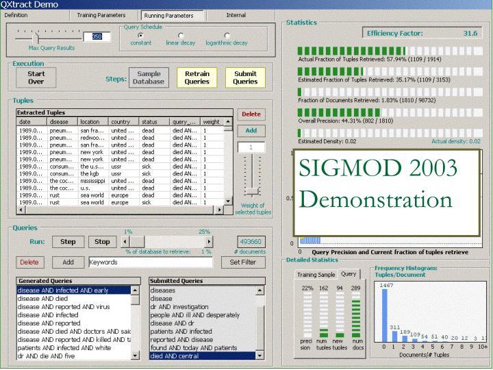 SIGMOD 2003 Demonstration