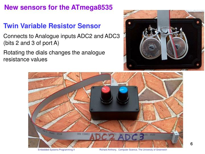 New sensors for the ATmega8535
