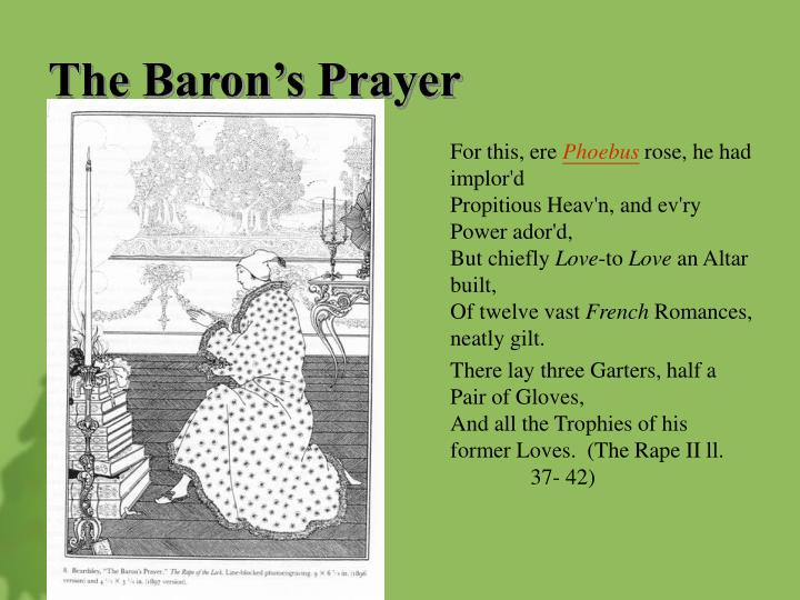 The Baron's Prayer