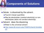 components of solutions