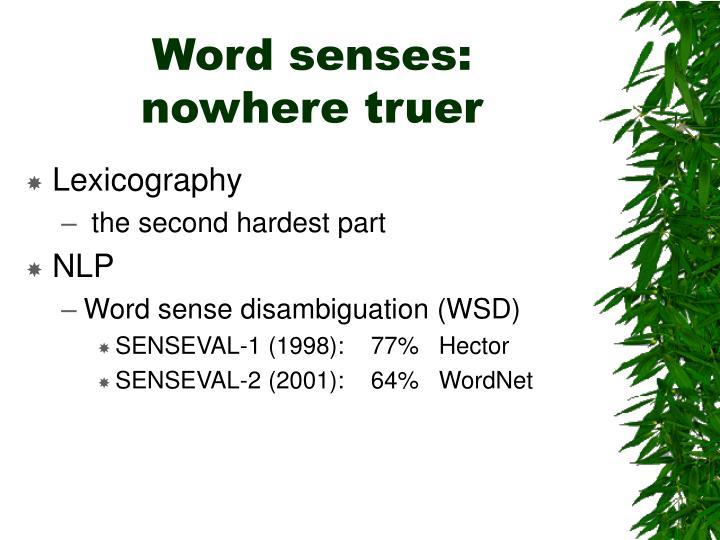 Word senses:
