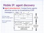 mobile ip agent discovery