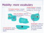 mobility more vocabulary