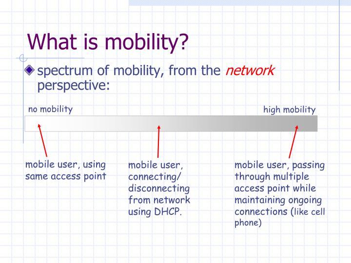no mobility
