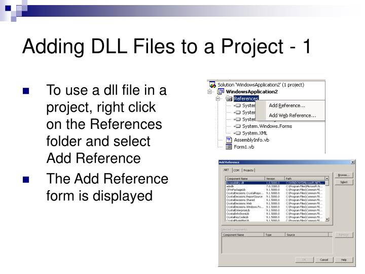 Adding DLL Files to a Project - 1