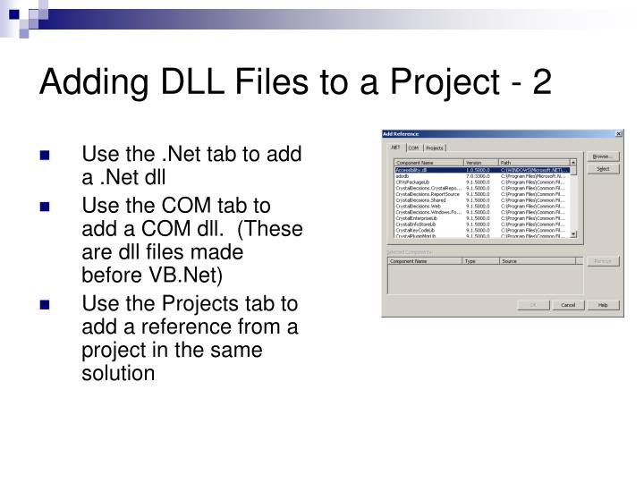 Adding DLL Files to a Project - 2