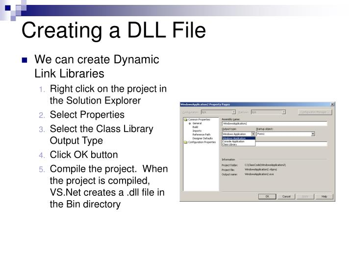 Creating a DLL File