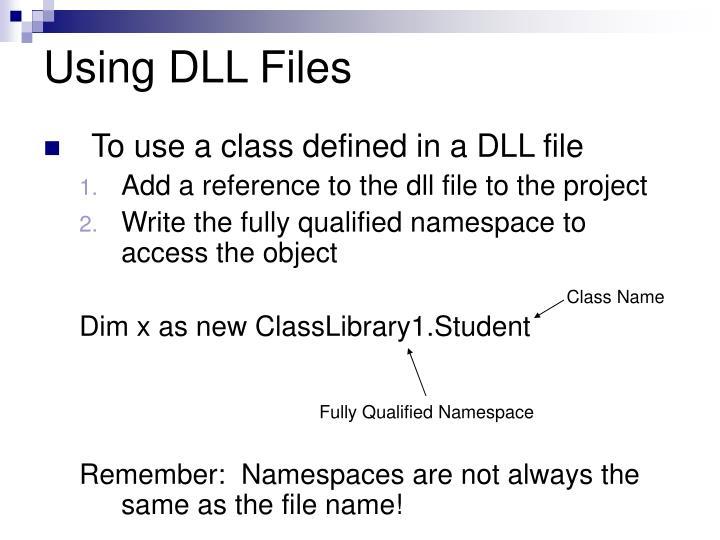 Using DLL Files