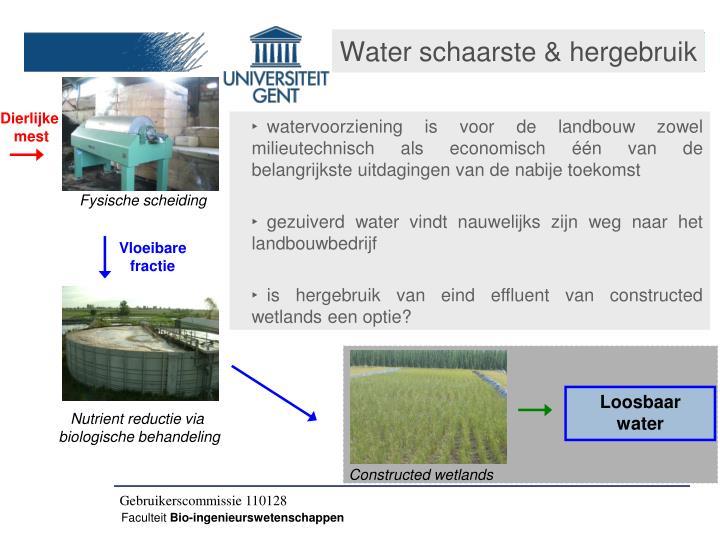 Water schaarste & hergebruik