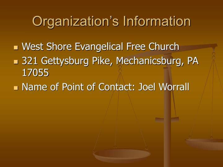 Organization's Information