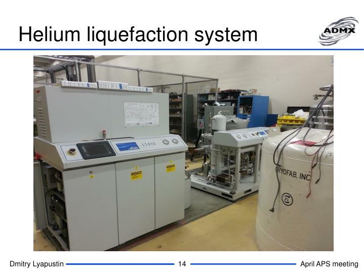 Helium liquefaction system