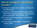 how do i configure a membership provider
