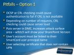 pitfalls option 1