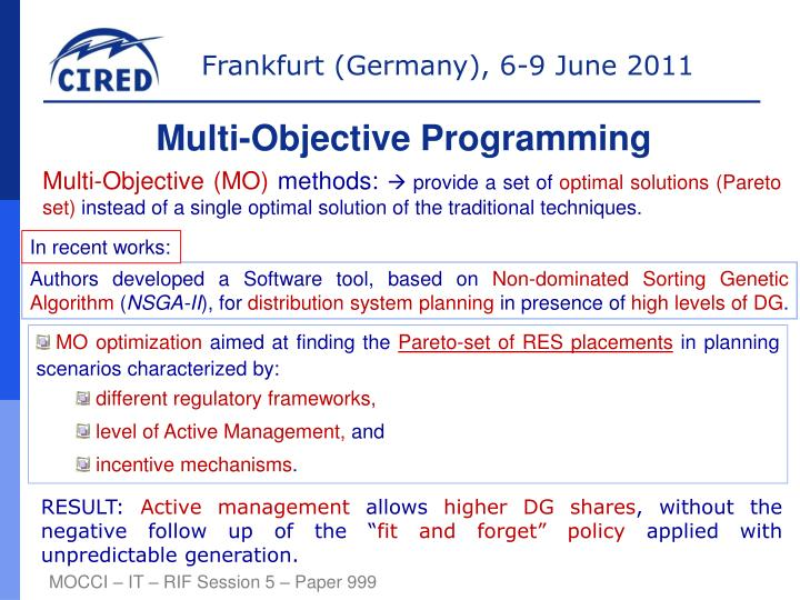 Multi-Objective Programming