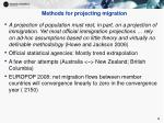 methods for projecting migration