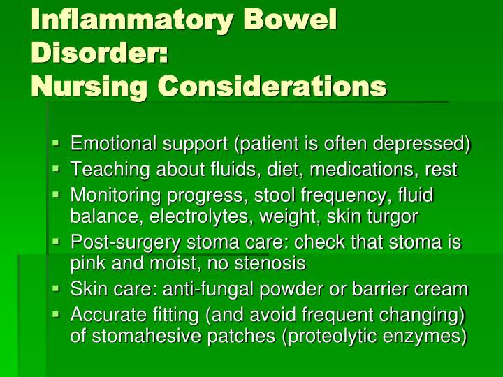 Inflammatory Bowel Disorder:
