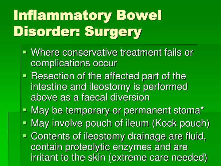Inflammatory Bowel Disorder: Surgery