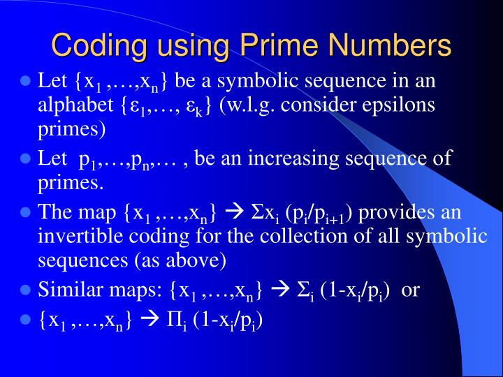 Coding using Prime Numbers