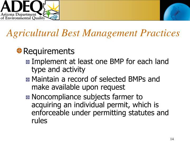 Agricultural Best Management Practices